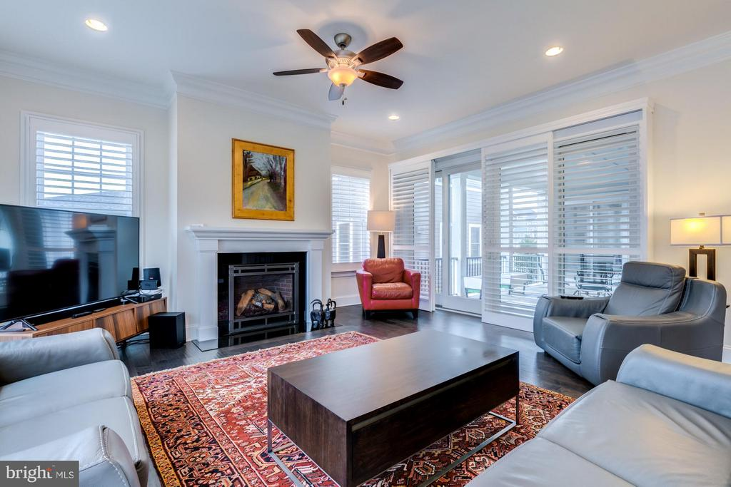 Family room with access to side covered deck - 41629 WHITE YARROW CT, ASHBURN