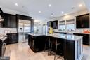 Chef's kitchen with T-shaped island - 41629 WHITE YARROW CT, ASHBURN