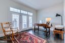 Main level bedroom/den w/ walk-out to front porch - 41629 WHITE YARROW CT, ASHBURN