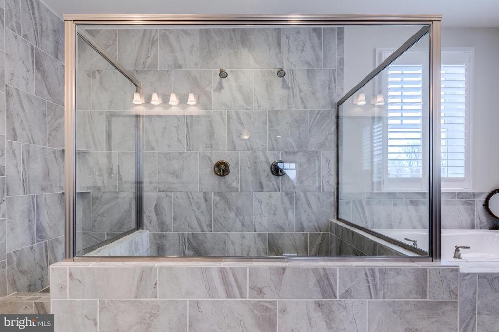 Walk- in shower with dual shower heads - 41629 WHITE YARROW CT, ASHBURN