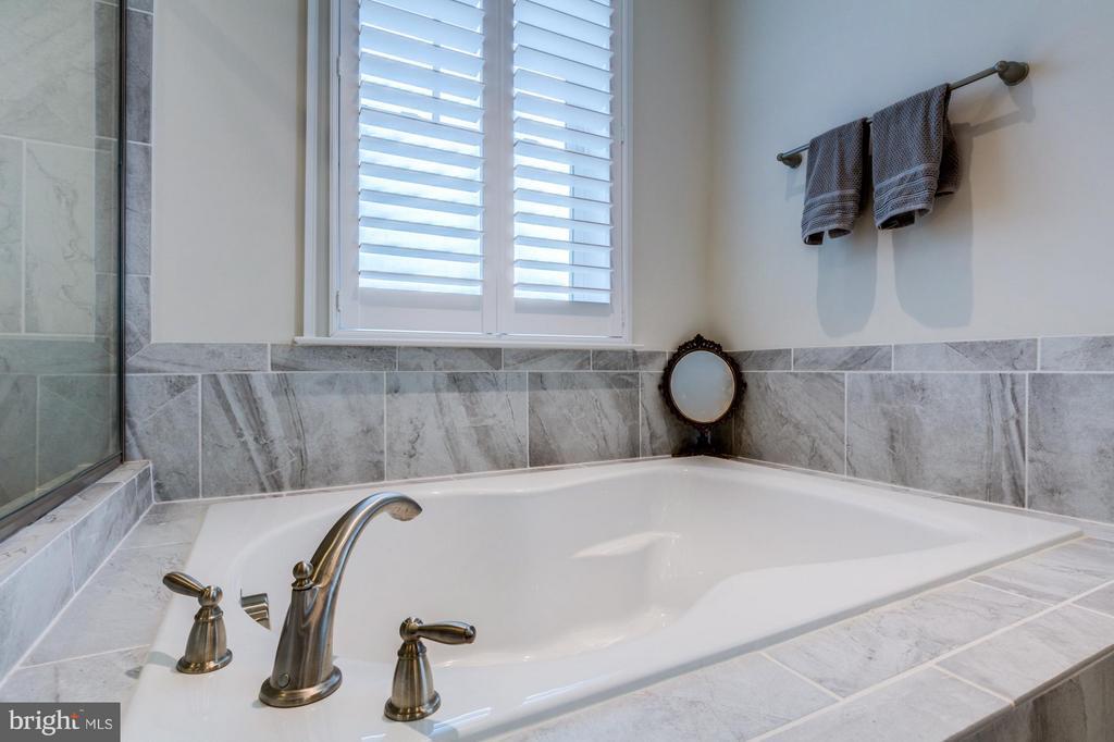Soaking tub perfect after a long day - 41629 WHITE YARROW CT, ASHBURN