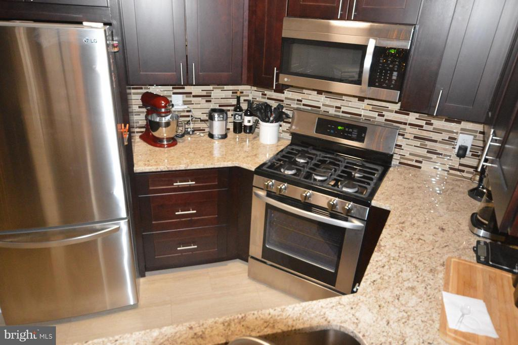 A new kitchen with granite, stainless and room! - 14320 CLIMBING ROSE WAY #203, CENTREVILLE