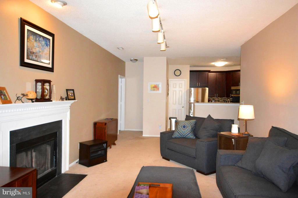 Wood burning fireplace and dining space too! - 14320 CLIMBING ROSE WAY #203, CENTREVILLE