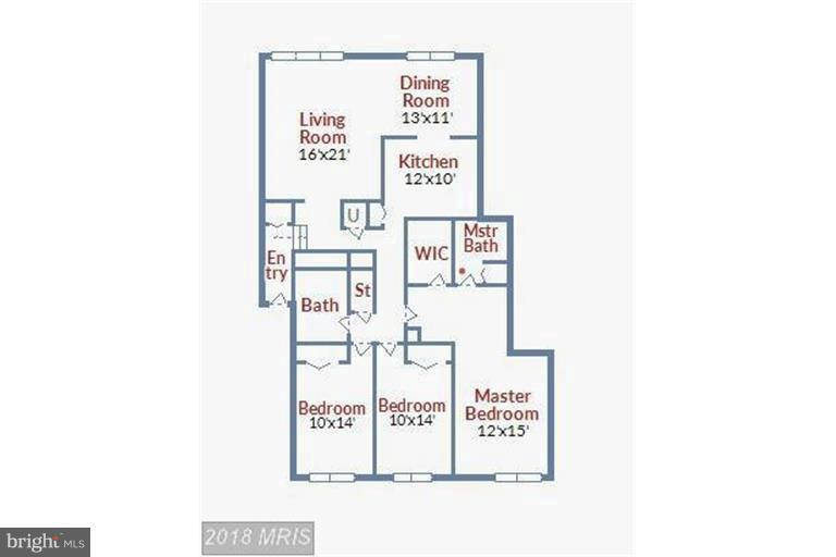Floor Plan - 9904 WALKER HOUSE RD #4, GAITHERSBURG