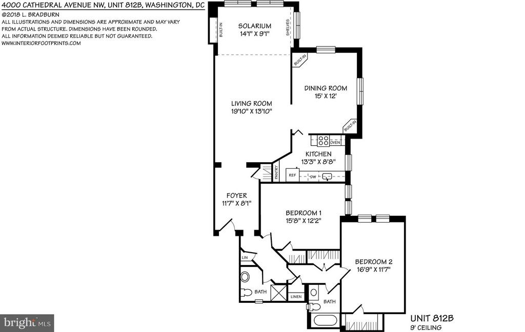 Floor plan - 4000 CATHEDRAL AVE NW #812B, WASHINGTON