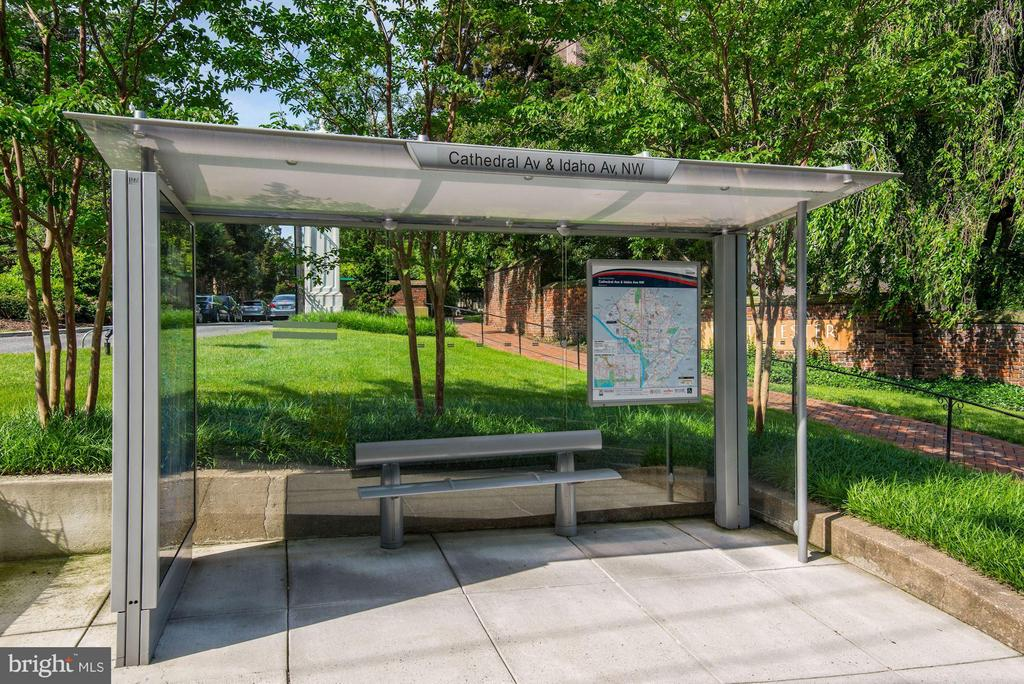 Bus stop in front of building - 4000 CATHEDRAL AVE NW #812B, WASHINGTON