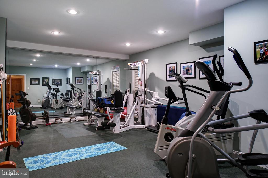 Fitness Room w/ flooring mats and mirrored wall. - 5862 SADDLE DOWNS PL, CENTREVILLE