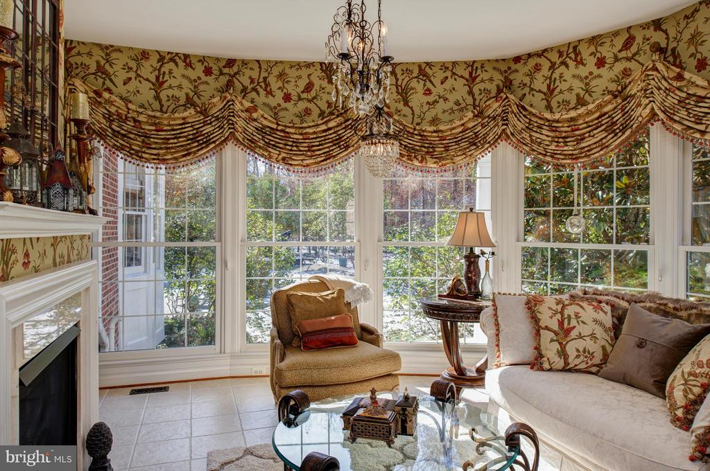 Sunroom FP & panoramic views of parklike setting. - 5862 SADDLE DOWNS PL, CENTREVILLE