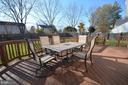 Deck overlooking large backyard. - 14609 BATAVIA DR, CENTREVILLE