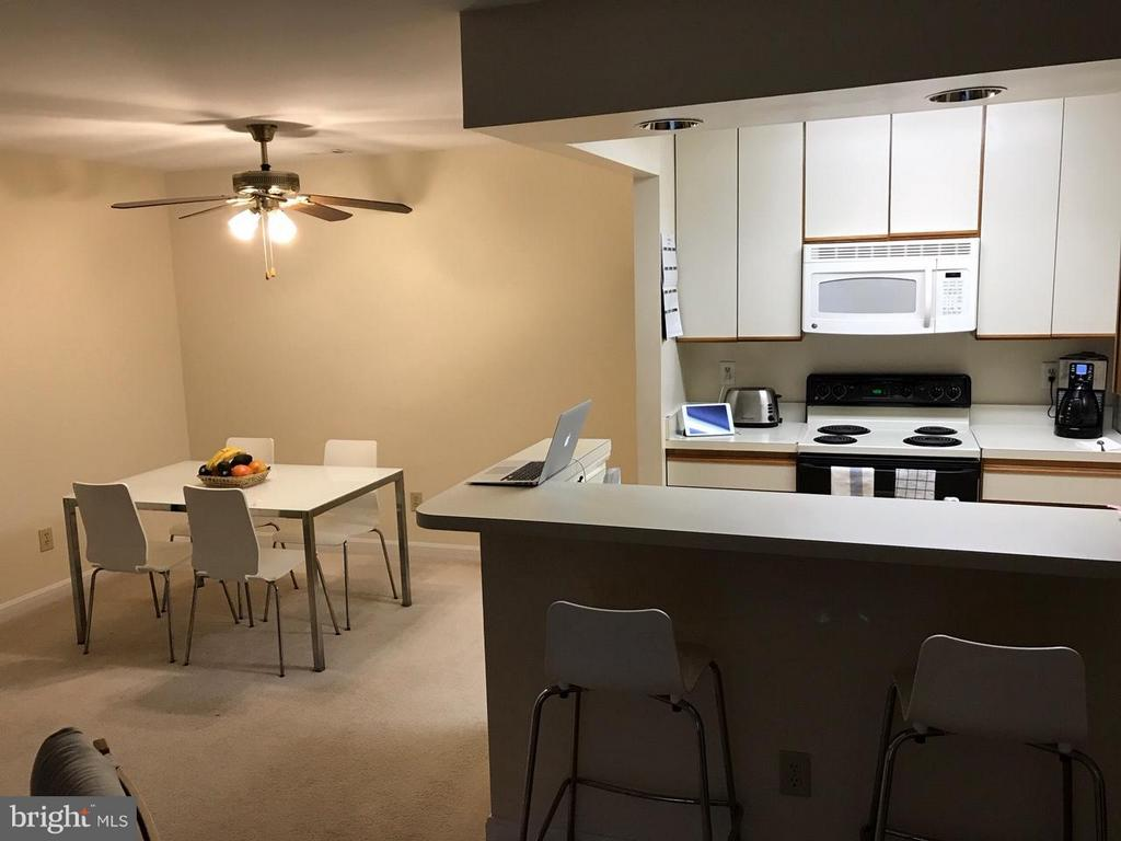 Kitchen/dining area - 13702 MODRAD WAY #8-B-21, SILVER SPRING