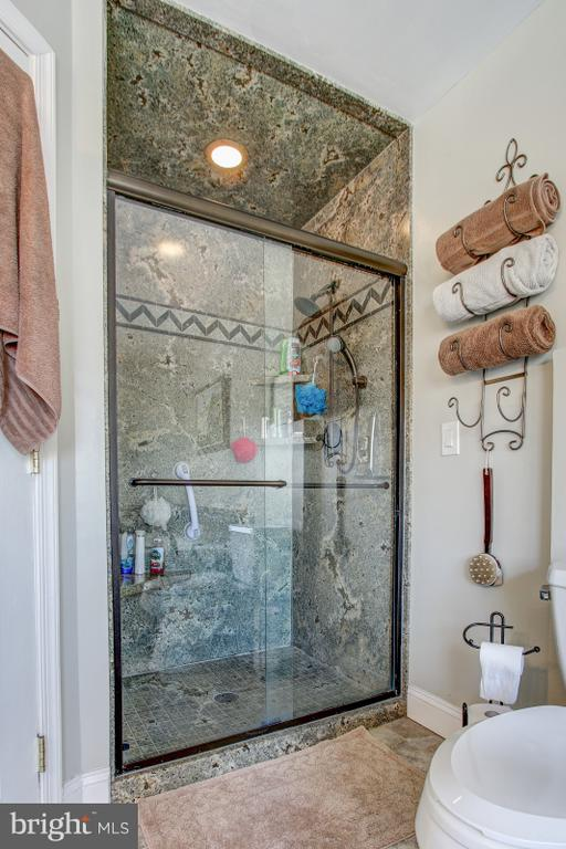 Glass door on double sized shower! - 4616 UPLAND DR, ALEXANDRIA