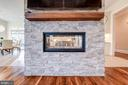 Main Level - Double Sided Fireplace - 8459 PORTLAND PL, MCLEAN