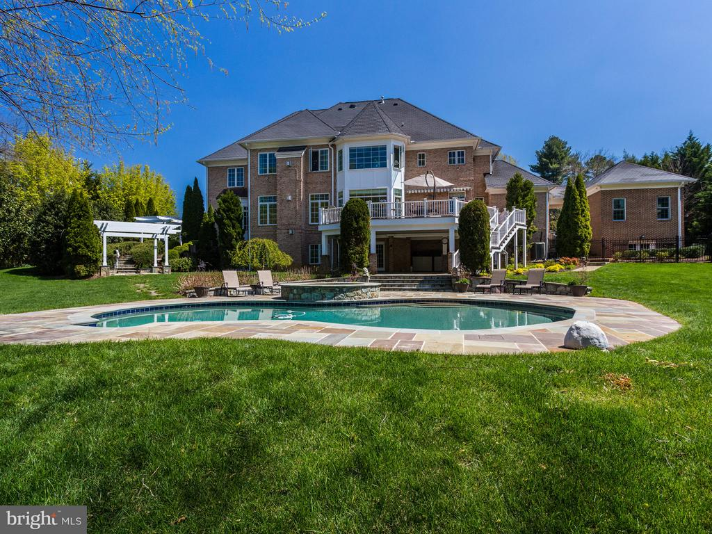 VIEW OF POOL AND BACK OF HOUSE - 1030 HARVEY RD, MCLEAN