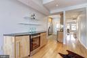 Main Level - Built-in Bar w/ Wine Refrigerator - 1416 21ST ST NW #301, WASHINGTON