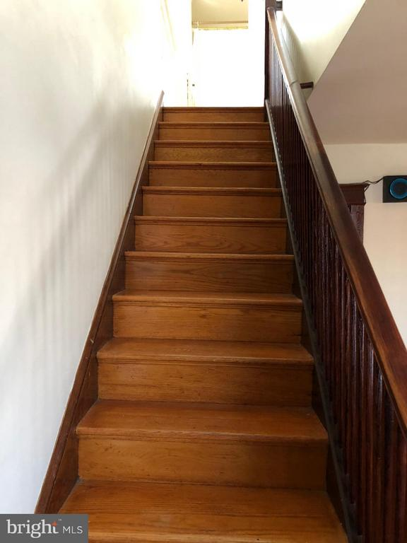 staircase leading to dining room - 1123 MICHIGAN AVE NE, WASHINGTON