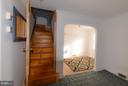 Stairs to upstairs - 4533 WINDSOR LN, BETHESDA