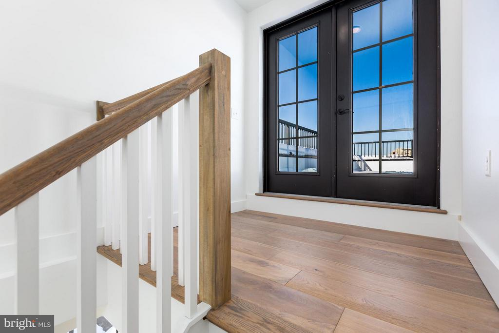 Double doors leads to private rooftop deck! - 1245 PIERCE ST N #11, ARLINGTON