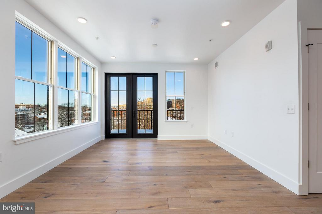Double doors lead to @100sqft balcony - 1245 PIERCE ST N #11, ARLINGTON
