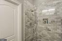 Custom tiled multi-head shower system in bath. - 541 SHEPHERD ST NW, WASHINGTON
