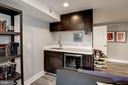 Includes wet bar with wine fridge. - 541 SHEPHERD ST NW, WASHINGTON