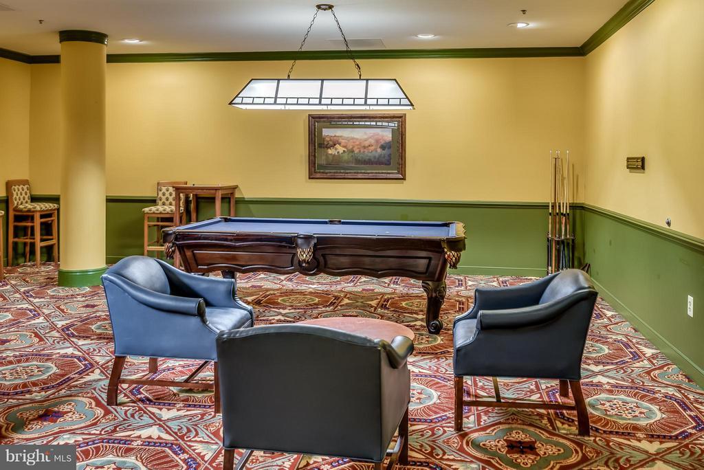 Billiard Room in Clubhouse - 19360 MAGNOLIA GROVE SQ #101, LEESBURG