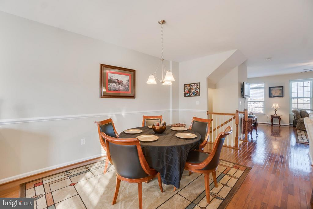 Dining Area opens up to Living Room - 117 SWEETGUM CT, STAFFORD
