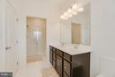 Glass Shower and Linen Closet in Master Bath - 117 SWEETGUM CT, STAFFORD