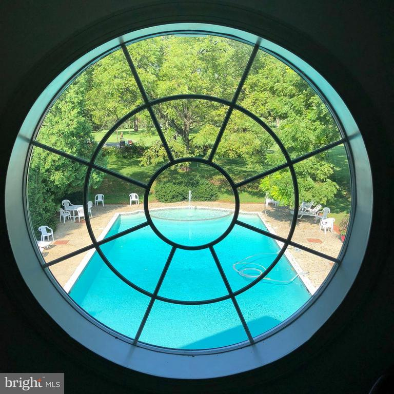 View of Pool from Oakdale Hall - 16449 ED WARFIELD RD, WOODBINE