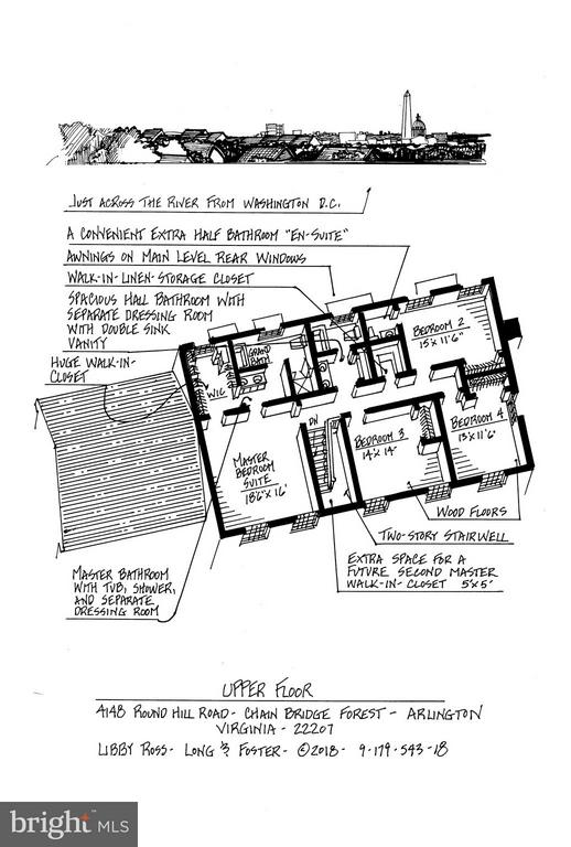 Upper Level Floor Plan - 4148 ROUND HILL RD, ARLINGTON