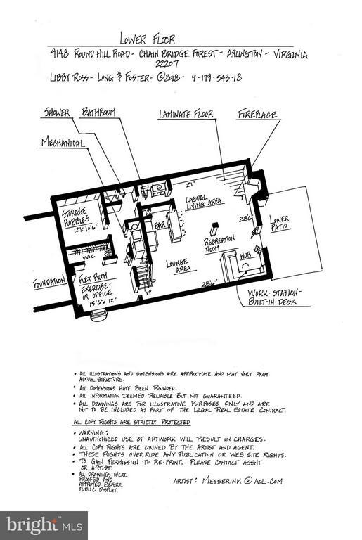 Lower Level Floor Plan - 4148 ROUND HILL RD, ARLINGTON