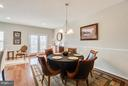 Dining Area Fixture and Chair Railing - 117 SWEETGUM CT, STAFFORD