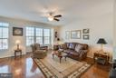 Family Room is located directly off the Kitchen - 117 SWEETGUM CT, STAFFORD
