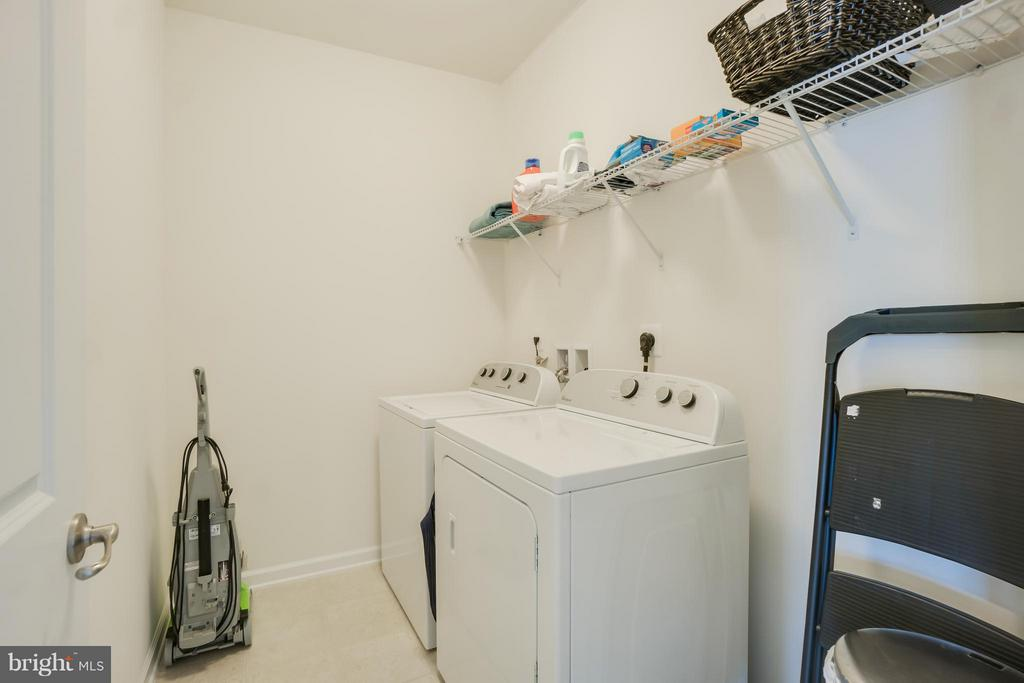 Separate Laundry Room on BR Level with Shelf - 117 SWEETGUM CT, STAFFORD