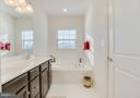 Double Sink Vanity with lots of Cabinet Storage - 117 SWEETGUM CT, STAFFORD