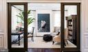 Living room with Glass by-pass doors - 40999 SPANGLEGRASS CT, ALDIE