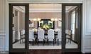 Dining Room with glass by-pass doors - 40999 SPANGLEGRASS CT, ALDIE