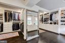 Upper master bedroom 1 closet - 534 UTTERBACK STORE RD, GREAT FALLS