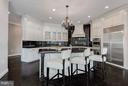 Kitchen with custom cabinets - 534 UTTERBACK STORE RD, GREAT FALLS