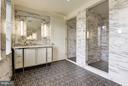 Sparkling Master Bathroom with two vanities - 2660 CONNECTICUT AVE NW #3C, WASHINGTON