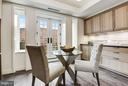 Breakfast Area opens to Private Terrace - 2660 CONNECTICUT AVE NW #3C, WASHINGTON