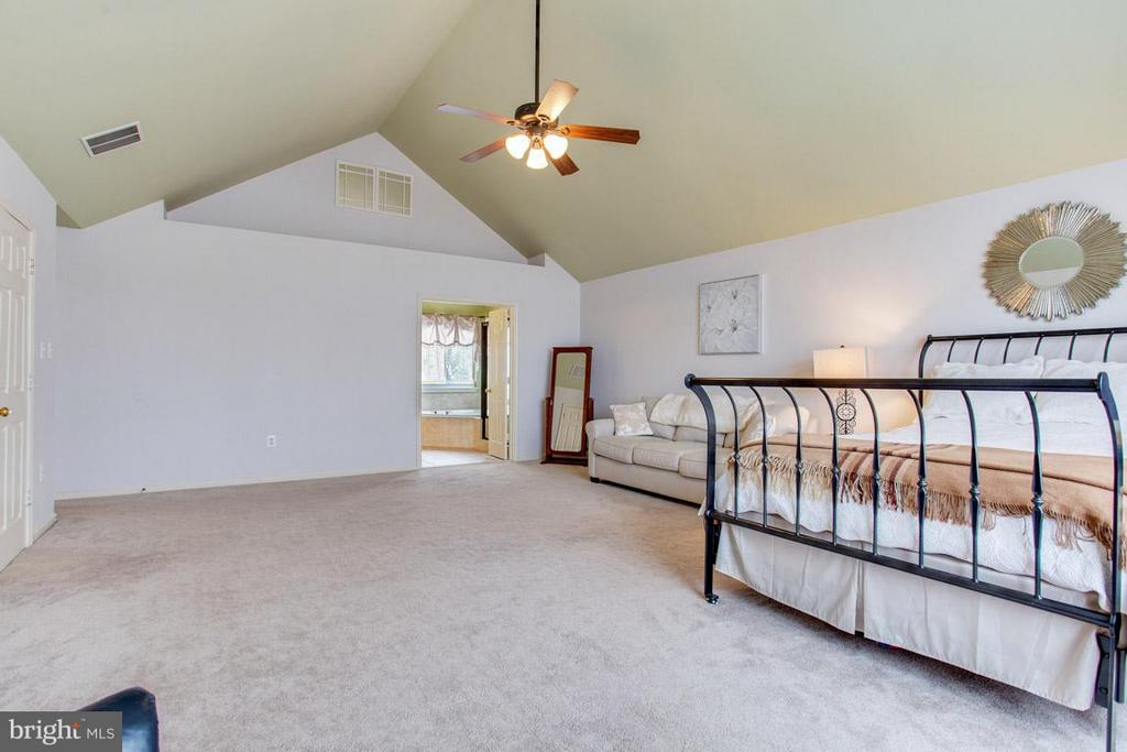 Master BR Vaulted Ceilings - 109 LAKE VIEW WAY NW, LEESBURG