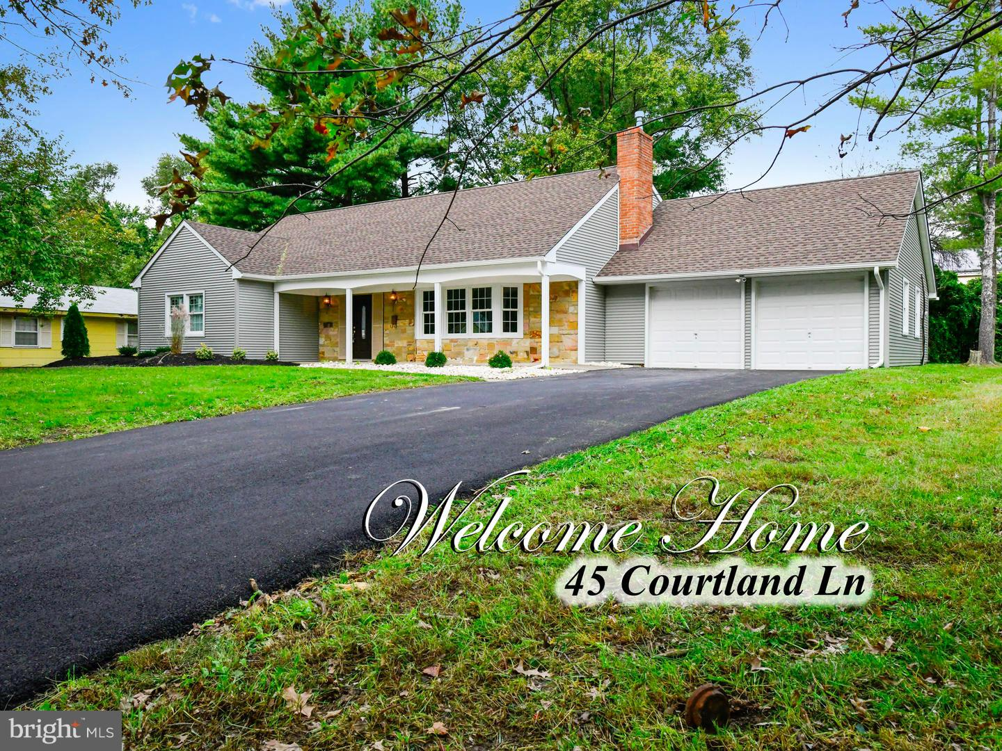 Single Family Home for Sale at 45 COURTLAND Lane Willingboro Township, New Jersey 08046 United States