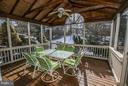 Screened Porch and Deck - 46611 KINGSCHASE CT, STERLING
