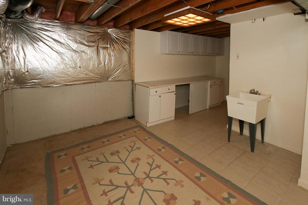 Unfinished area with extra storage and utility sin - 46611 KINGSCHASE CT, STERLING