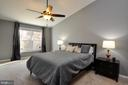 Open spacious master bedroom. - 2 CHARLESTON CT, STAFFORD