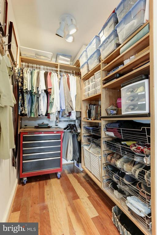 2nd Bedroom custom closet w/motion overhead lights - 11990 MARKET ST #913, RESTON