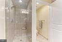 Seamless shower door w/rainfall shower head - 11990 MARKET ST #913, RESTON