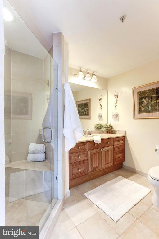 Upgraded seamless shower doors in both baths - 11990 MARKET ST #913, RESTON