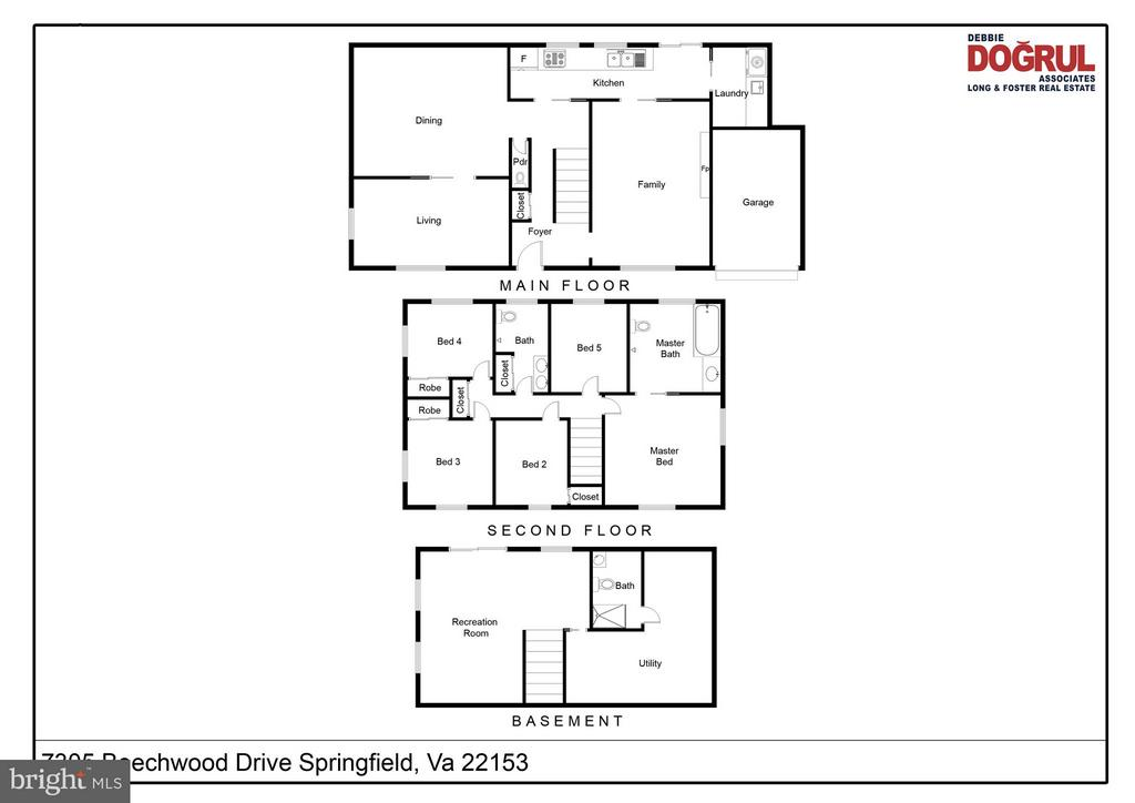 Floor Plan - 7305 BEECHWOOD DR, SPRINGFIELD