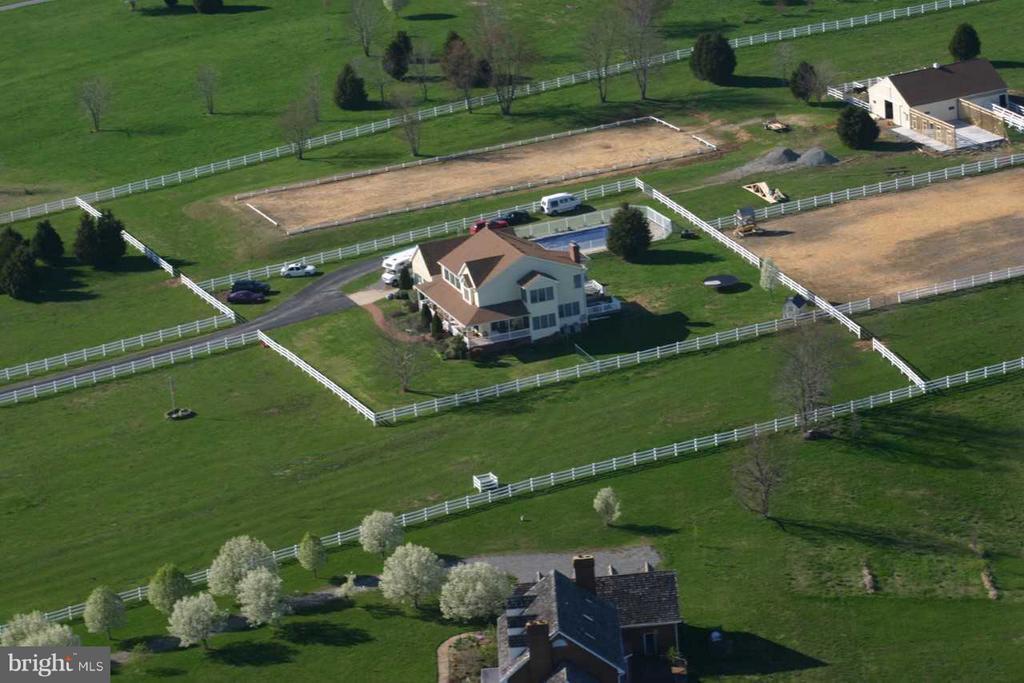 Arial view taken when Harvey's' bought the house - 7411 SNOW HILL DR, SPOTSYLVANIA